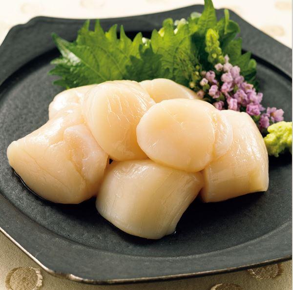 北海道産の天然ほたて貝柱